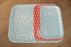 Lacquered fabric trays