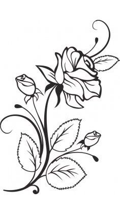Art Sketches Ideas - Flowers Color Clipart stencil - Free Clipart on Dumielau. Stencil Patterns, Embroidery Patterns, Hand Embroidery, Colouring Pages, Adult Coloring Pages, Coloring Books, Doodle Drawing, Wood Burning Patterns, Wood Burning Projects