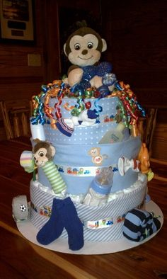 monkey diaper cake | monkey diaper cake | nutthouse crafts