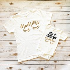 Women's Shirts - Got It From My Momma Mommy & Me Shirt Set