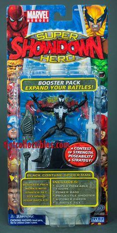 Marvel Super Hero Showdown Black Costume Spider-Man Action Figure Toy Biz #Marvel