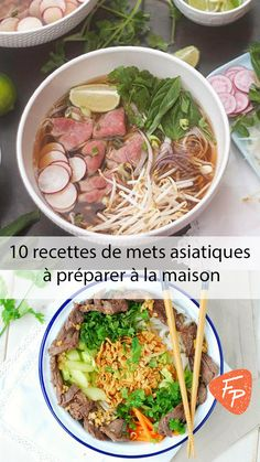 10 Asian Recipes for Home Preparation - ○ Rec .- 10 Asian recipes for home preparation – ○ Recettes Salées – # for - Asian Noodle Recipes, Asian Chicken Recipes, Easy Asian Recipes, Healthy Beef Recipes, Diet Soup Recipes, Beef Recipes For Dinner, Vegan Recipes, Quick Vegetarian Dinner, Mets