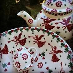 Angel Serving Bowl and Angel 4 Cup Teapot for Fortnum & Mason (Christmas 2015) Discontinued