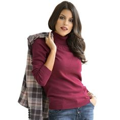 Rollkragen-Pullover von Alba Moda