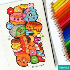 Donut Party | watch this #doodle video on YouTube channel: Pic Candle…
