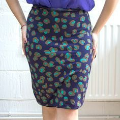 Are you as in love with pencil skirts as I am? I love how elegant and feminine they are. And I'm secretly in love with this stretchy version. It's easy to make and tailored to fit your measurements. The best bit? It only takes an afternoon to make. Now there's no reason not to have a wardrobe full of these little fashion beauties! | Difficulty: Beginner; Length: Long; Tags: Sewing, Fashion, Clothes, Fabric, Sewing Machine