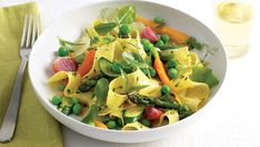 Spring Vegetable Ragout with Fresh Pasta - Recipe - FineCooking