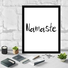 Namaste Art Namaste Wall Art Printable Art Instant Download Art Digital Print Ouote Prints Tipography Poster Tipography Art Print 8X10 11x14 by sweetdownload on Etsy
