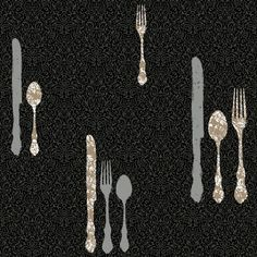 An elegant and intricate damask print lends rich visual appeal to the York Wallcoverings Bistro 750 Metallic Silverware with Damask Wallpaper , which. Prepasted Wallpaper, Damask Wallpaper, Wall Wallpaper, Retro Wallpaper, Wallpaper Warehouse, Kitchen Wallpaper, Everyday Items, Wall Sticker, Wall Decals