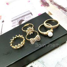 $0.99 1PC Ring Cool Female Rivet Alloy Mini Ring - BornPrettyStore.com