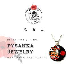 Here's a peek at my webpage... Want to see more? Please visit http://ift.tt/1MLV9Y0 . #mellabelladesigns #handmadejewelry #pysankajewelry #eggshelljewelry #visitmywebsite