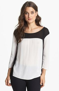 Ella Moss Two Tone Top available at #Nordstrom