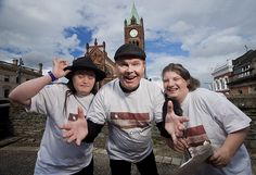 Frank Nelis, Emma Diver and Catherine Campbell from Stage Beyond, a theatre company for young adults with learning disabilities, funded by the Arts Council, will be performing extracts of Shakespeare around the streets of Derry/Londonderry this August as