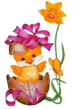 Easter Chicks page 3 - Easter Images Easter Art, Easter Crafts, Art D'oeuf, Gifs Cute, Gifs Disney, Easter Cartoons, Easter Wallpaper, Easter Pictures, Baby Clip Art