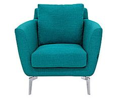 Fauteuil capitonn turquoise braga turquoise - Fauteuil bleu turquoise ...