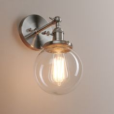Designed to showcase the warmth of Edison-style bulbs. It has a clean industrial look that is super cool, the sphere glass is beautiful and the light is super versatile. All our products are with high quality. | eBay!