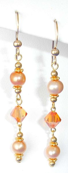 crystal and pearl earrings - Google Search