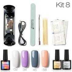 Alert 1pcs Ail Art Set Uv 9led Lamp Dryer Random Color Nail Flashlight Set Kit Nail Tools Gel Varnish Lacquer Manicure Tools Kit Beauty & Health