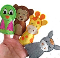 12 pcs Animal Finger Puppets Kids Felt Puppet by SmartArtCrafts