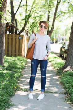 4490f84c2d 18 Best Grey Slip On Sneaker Outfits images