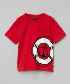 Look what I found on #zulily! Red Lifesaver Crewneck Tee - Infant, Toddler & Boys #zulilyfinds