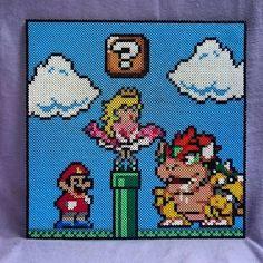 Super Mario scene hama beads by Jenny Specht