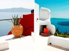 The bluest sky.... Cliffside Villa, Santorini, Greece