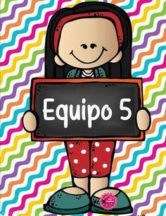 SGBlogosfera. María José Argüeso: POR EQUIPOS First Day Of School, Back To School, School Items, Cooperative Learning, Cute Clipart, Borders And Frames, Team Leader, Classroom Decor, Teacher Resources