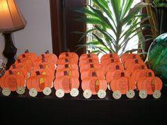 Cinderella Pumpkin Coach Table Arrangements / Seating Cards