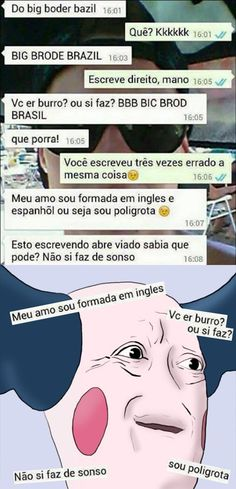 to rindo e n eh pouco! Crazy Mind, Little Memes, Troll Face, Top Memes, Funny Text Messages, Bad Mood, Wtf Funny, Funny Posts, Funny Images