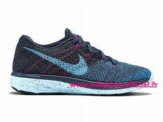 new product e945c 3ccce Site Nike Flyknit Lunar 3 Chaussures Officiel Nike Pour Homme Bleu Noir  Rose…