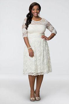 Aurora Lace Plus Size Short Wedding Dress | David's Bridal