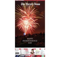 The front page of The Herald News for Saturday, July 4, 2015.
