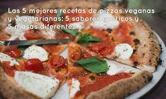 Las 5 mejores recetas de pizzas veganas y vegetarianas: 5 sabores exóticos y 5 masas diferentes