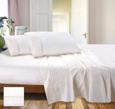 RAMESSES Cotton Sateen Sheet Set, 800 Thread Count 1x Flat Sheet, x Fitted sheet with 50 cm wall & 2 pillow cases