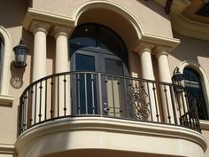 Modern Home Design Balcony with Wrought Iron Picture