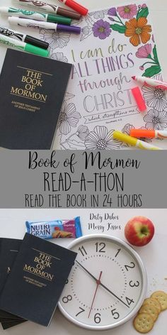 Book of Mormon Read-A-Thon – LDS Young Women super activity we read the Book of Mormon in 24 hours. Talk about some serious scripture study, increased faith and accomplishing personal progress goals.