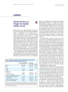 Sexual Activity as a Trigger for Sudden Cardiac Arrest   JACC: Journal of the American College of Cardiology