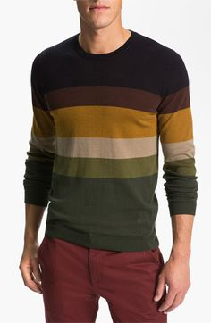 WeSC 'Zoltan' Crewneck Sweater available at Sweater Jacket, Men Sweater, Crewneck Sweater, Der Gentleman, Herren Style, Nordstrom, Mens Fashion, Fashion Outfits, Men Looks