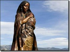"""Sacagawea Monument, Salmon, Idaho  The Lewis & Clark National Historic Trail is a """"National-Park-in-the-making."""" The National Park Service is still in the process of visiting sites along the path of the Corps of Discovery and certifying that they are the actual places mentioned in the logs and diaries kept by the folks on the Lewis & Clark Expedition."""