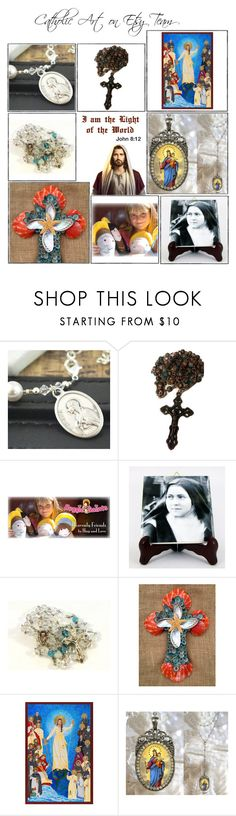 """""""Religious Art on Etsy by TerryTiles2014 - Volume 328"""" by terrytiles2014 ❤ liked on Polyvore featuring interior, interiors, interior design, home, home decor, interior decorating, etsy, art, gifts and catholic"""