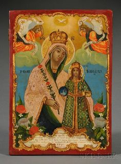 Greek Icon of the Unfading Rose Mother of God, dat : Lot 901 Lady Madonna, Madonna And Child, Greek Icons, Russian Icons, Blessed Virgin Mary, Art Icon, Orthodox Icons, Christian Art, Religious Art
