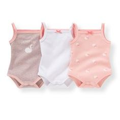 Pack of 3 Organic Cotton Bodysuits, Birth - 3 Years R mini - Baby Girls Clothing Source by Clothing girl Newborn Girl Outfits, Baby Girl Newborn, Toddler Outfits, Boy Outfits, Baby Baby, Baby Girl Fashion, Toddler Fashion, Kids Fashion, Winter Baby Clothes