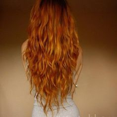 Well, since my hair is naturally this color, I don't even have to dye it! But I want my hair to be almost this length one day. #gingersdoitbest