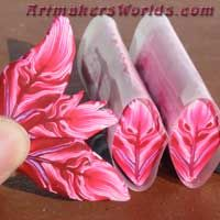 polymer clay flowers and leafs
