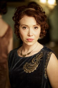 Besotted: Daisy Lewis plays new character Sarah Bunting, who's noticed early on by widow Branson