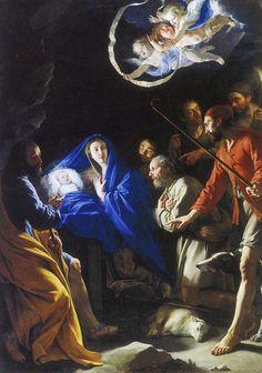 Philippe de Champaigne, (1602-1674): Adoración de los pastores.