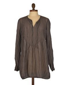 CP Shades Angel Tunic in Boulder Cotton/Silk | Pin tuck details make this tunic one of CP Shades' most-flattering tops. #blissboutiques #cpshades #angel #tunic #boulder #cotton #silk