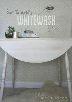 Easily transform an old table into a stunner with a Whitewash finish!
