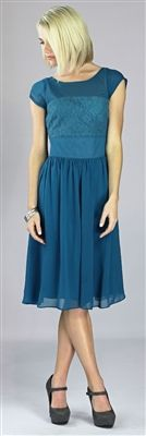 great site for modest dresses/skirts - Isabel Modest Dress by Mikarose In Sapphire Blue